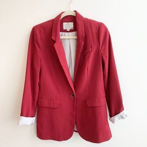 Oversized Red Blazer